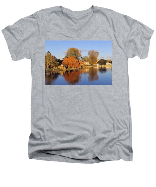 River Thames At Marlow Men's V-Neck T-Shirt by Tony Murtagh