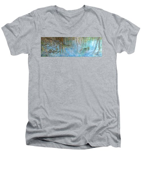River's Stories  Men's V-Neck T-Shirt by Delona Seserman