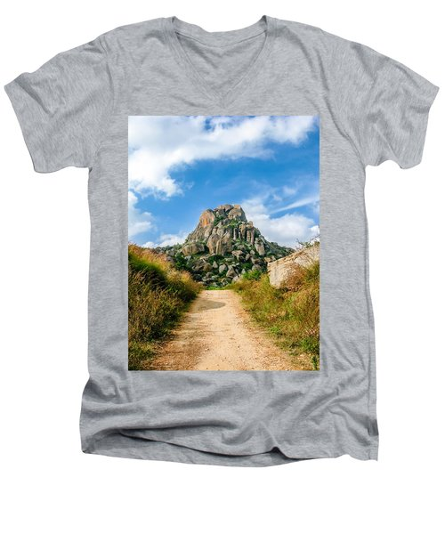 Road Into The Hills Men's V-Neck T-Shirt