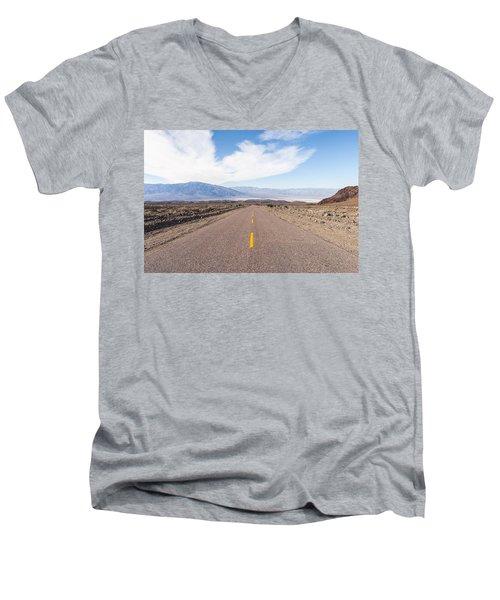 Road To Death Valley Men's V-Neck T-Shirt by Muhie Kanawati