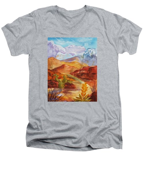 Road To Nowhere Men's V-Neck T-Shirt by Ellen Levinson