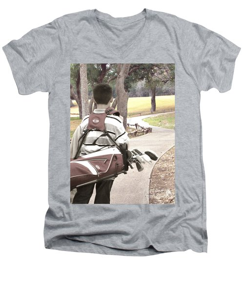 Men's V-Neck T-Shirt featuring the photograph Road To Success - Inspirational Art by Ella Kaye Dickey