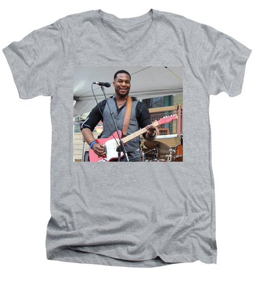 Men's V-Neck T-Shirt featuring the photograph Robert Randolph  by Fiona Kennard