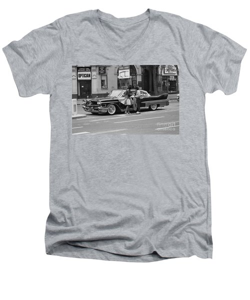 Rock And Roll Radio Campaign Men's V-Neck T-Shirt