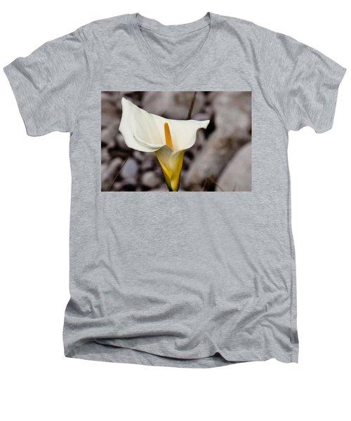 Rock Calla Lily Men's V-Neck T-Shirt