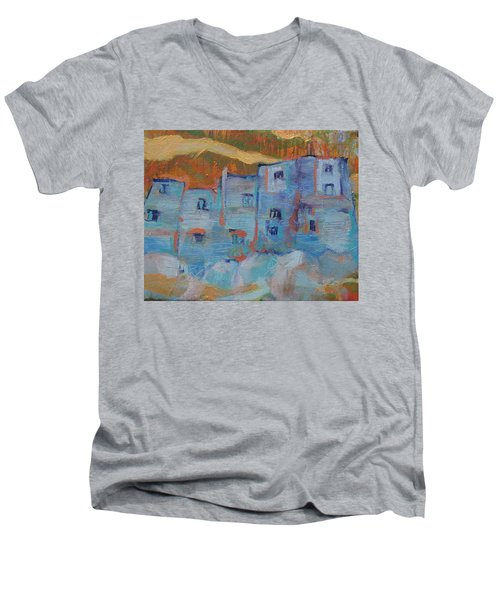 Rock City Abstract Men's V-Neck T-Shirt