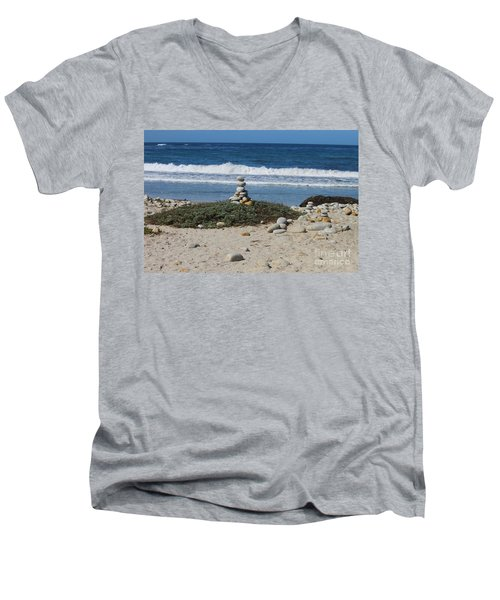 Rock Sculpture 2 Men's V-Neck T-Shirt