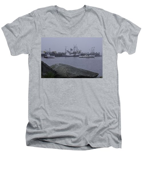 Men's V-Neck T-Shirt featuring the photograph Rockland Me by Daniel Hebard