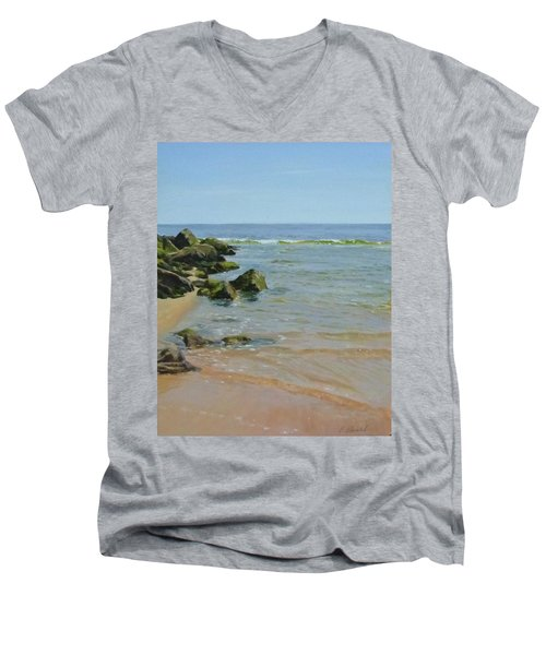 Rocks And Shallows Men's V-Neck T-Shirt