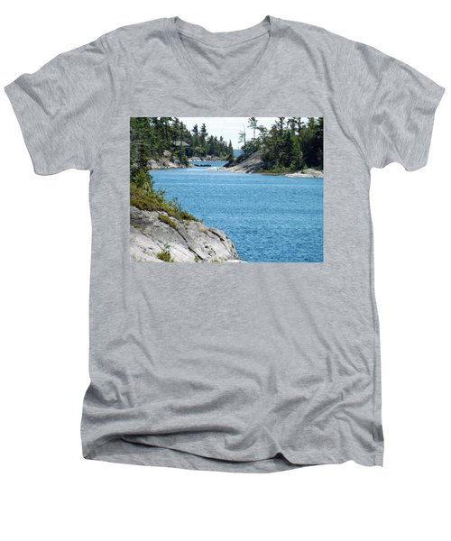 Rocks And Water Paradise Men's V-Neck T-Shirt