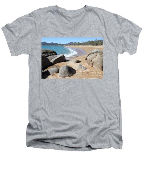 Rocks On The Beach Men's V-Neck T-Shirt