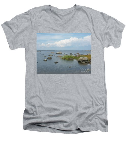 Rocks On The Baltic Sea Men's V-Neck T-Shirt