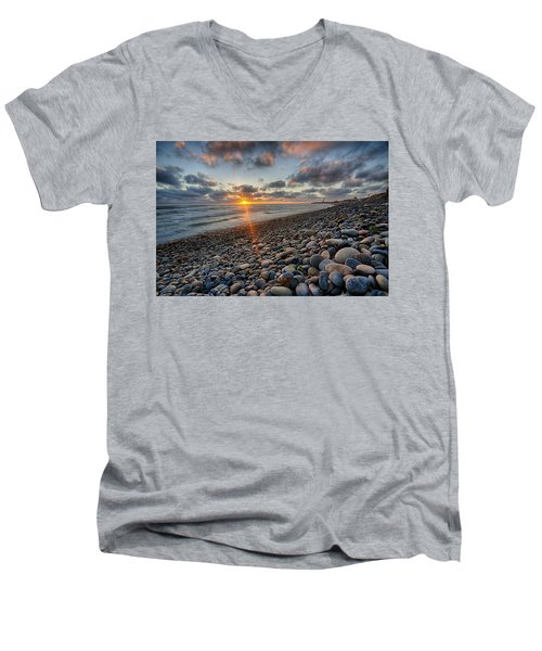 Rocky Coast Sunset Men's V-Neck T-Shirt