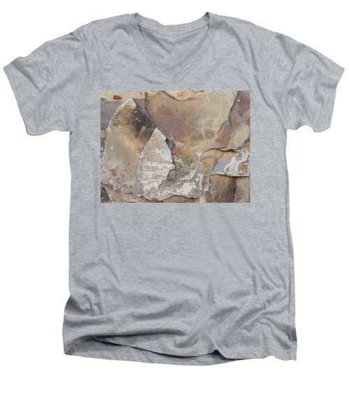 Men's V-Neck T-Shirt featuring the photograph Rocky Edges by Jason Williamson