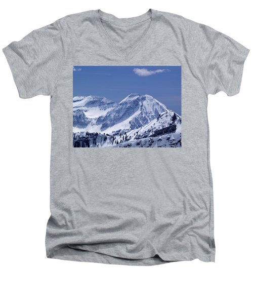 Rocky Mountain High Men's V-Neck T-Shirt by Bill Gallagher