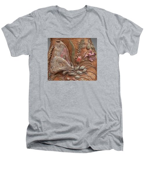 Rocky Mountain Summer - Detail Men's V-Neck T-Shirt by Dawn Senior-Trask