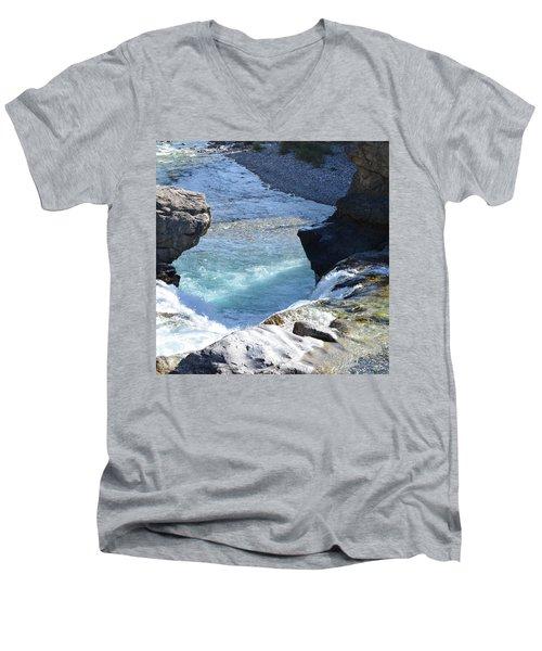 Elbow Falls Water  1.1 Men's V-Neck T-Shirt by Cheryl Miller