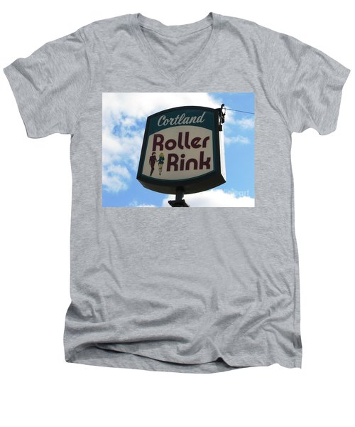 Roller Rink Men's V-Neck T-Shirt