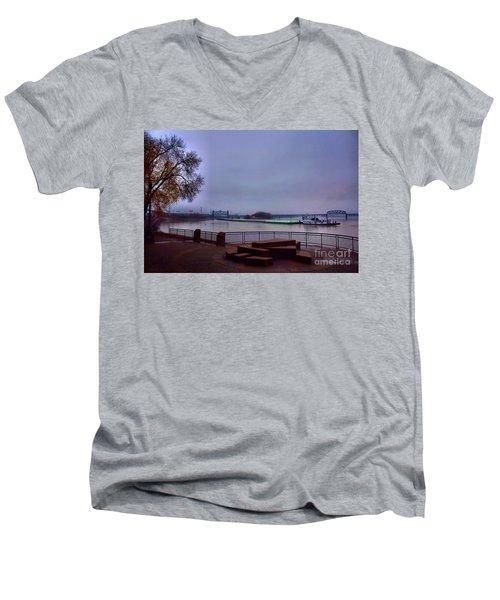 Men's V-Neck T-Shirt featuring the photograph Rollin Onna River by Robert McCubbin