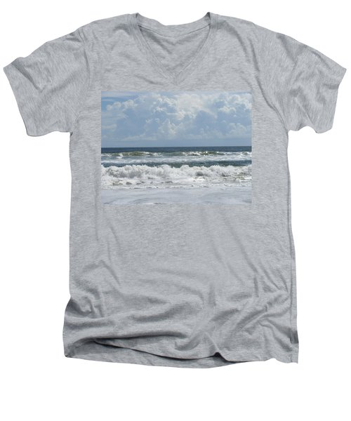 Rolling Clouds And Waves Men's V-Neck T-Shirt