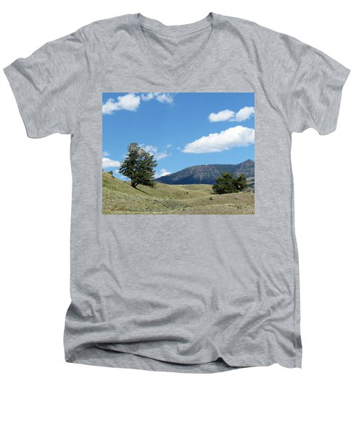 Men's V-Neck T-Shirt featuring the photograph Rolling Hills by Laurel Powell