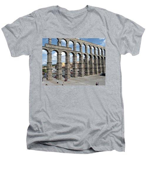 Roman Aqueduct IIi Men's V-Neck T-Shirt
