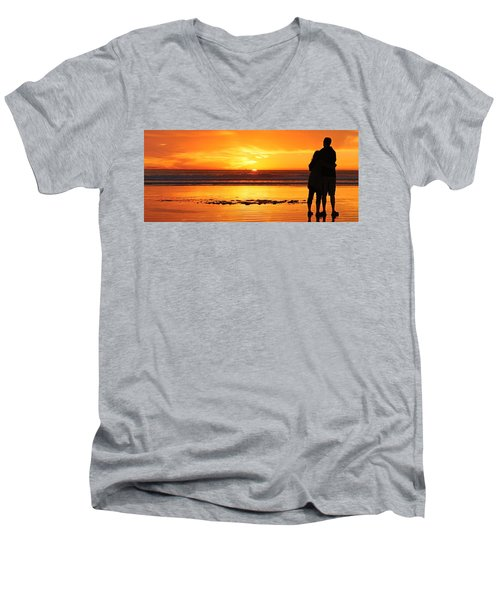 Romantic Sunset  Men's V-Neck T-Shirt