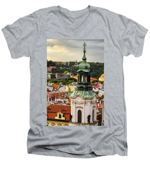 Rooftops Of Prague 1 Men's V-Neck T-Shirt