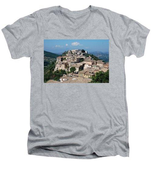 Rooftops Of The Italian City Men's V-Neck T-Shirt