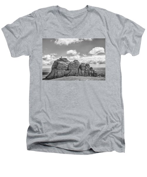 Men's V-Neck T-Shirt featuring the photograph Room On Top by Howard Salmon