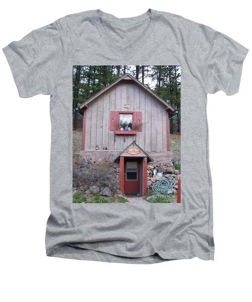 Root Cellar Men's V-Neck T-Shirt by Pamela Walrath
