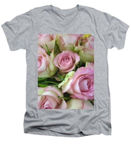 Rose Bed Men's V-Neck T-Shirt