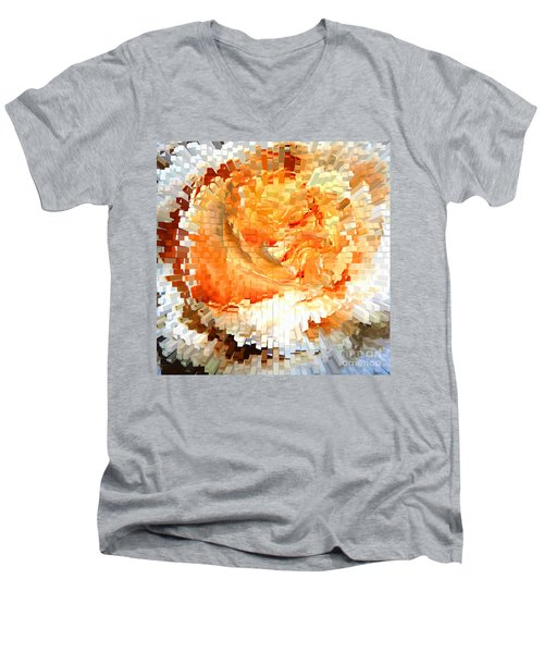 Rose In Bloom Men's V-Neck T-Shirt by Alys Caviness-Gober