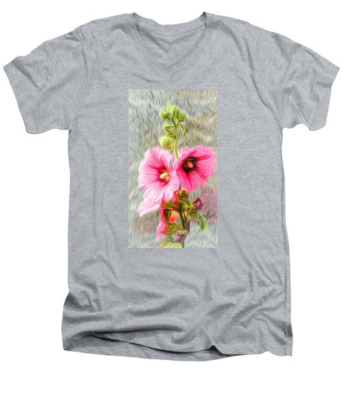 Rose Of The North Abstract. Men's V-Neck T-Shirt by Ian Gledhill
