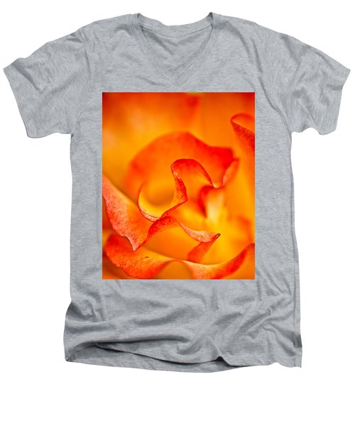 Rose Petals Closeup Men's V-Neck T-Shirt