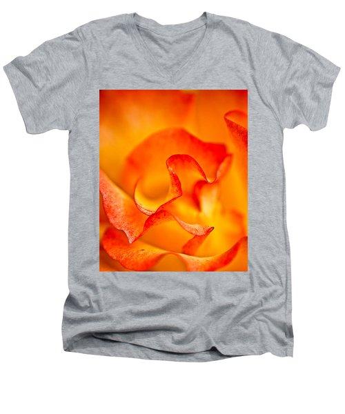 Rose Petals Closeup Men's V-Neck T-Shirt