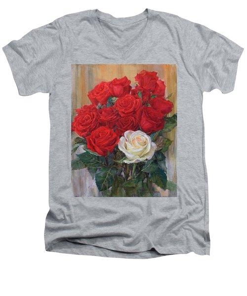 Roses For You Men's V-Neck T-Shirt