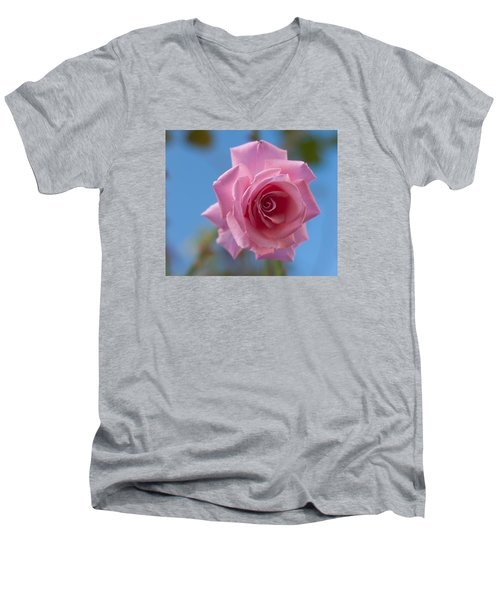 Roses In The Sky Men's V-Neck T-Shirt by Miguel Winterpacht