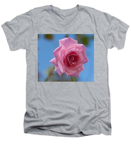 Roses In The Sky Men's V-Neck T-Shirt