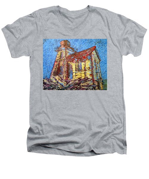 Ross Island Lighthouse Men's V-Neck T-Shirt