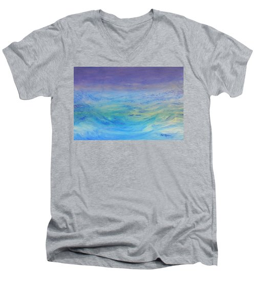 Rough Waters Men's V-Neck T-Shirt by Mark Minier