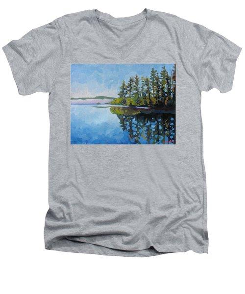 Round Lake Mirror Men's V-Neck T-Shirt