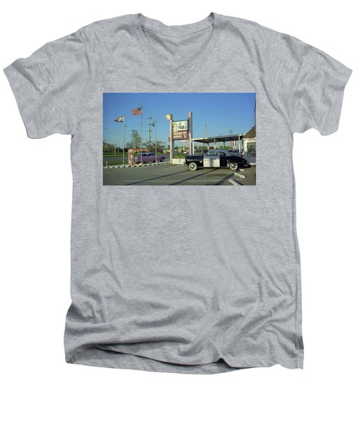 Route 66 - Anns Chicken Fry House Men's V-Neck T-Shirt