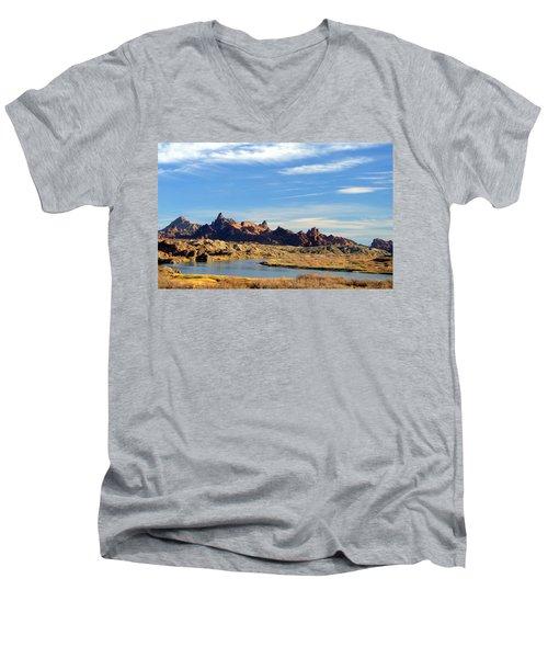 Route 66 Needles Mtn Range 2      Sold Men's V-Neck T-Shirt