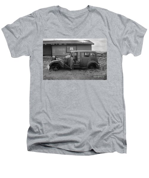 Route 66 Travels Men's V-Neck T-Shirt