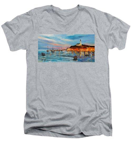 Rovanij Harbour Men's V-Neck T-Shirt
