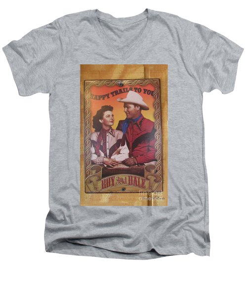Roy And Dale Men's V-Neck T-Shirt by Donna Brown
