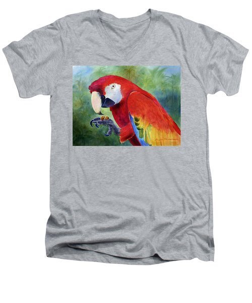 Ruby Having Lunch Men's V-Neck T-Shirt