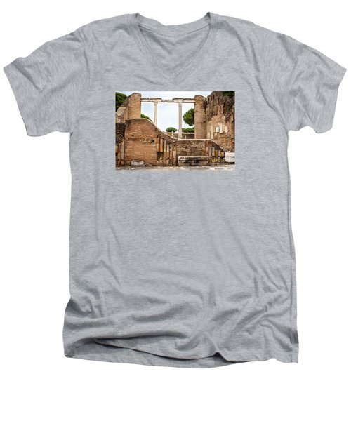 Ruins Of Ostia Antica Men's V-Neck T-Shirt