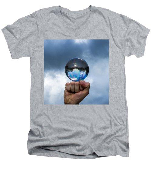 Rule The World - Featured 3 Men's V-Neck T-Shirt by Alexander Senin